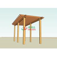 Best Prefab wood plastic composite pergola structure for garden / 6mx4m / OLDA-5015 wholesale