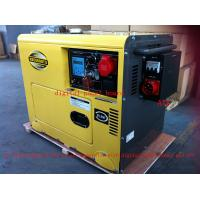 Best 8KVA Yellow Color Silent Type Small Diesel Generators Set With ATS , Low Oil Alarm System wholesale