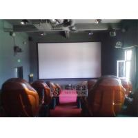 Cheap 7D Cinema System with Luxury Cinema Chair , Hydraulic Motion Platform for sale