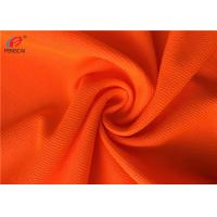 China Flame Retardant Fluorescent Material Fabric Weft Knitted Polyester Fabric For Uniform on sale