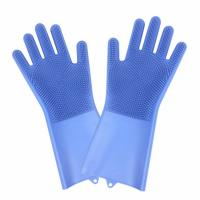 Non-slip Design New Fancy Multifunctional Scrubber Cleaning Glove 100% Food Grade Silicone Rubber Sponge Brush with five fingers