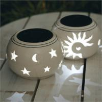 Buy cheap 2012 New Design Solar Ceramic Lamp for your Garden from wholesalers