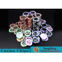 Best Eco 12g Clay Poker Chips With Ultimate Sticker , 40mm Diameter wholesale