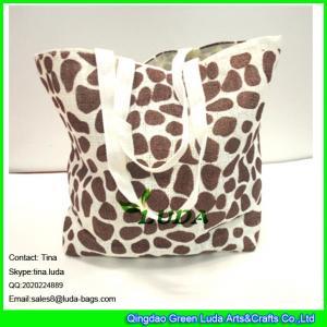 China LUDA scarolina herrera handbags leopart print paper straw shopping bag on sale