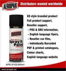 Best Metallic Aerosol Spray Paints / Acrylic Spray Paint Black For Wood Furniture wholesale