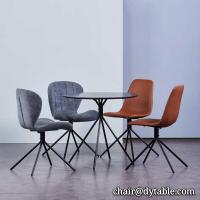 Best Modern dining chair set with upholstered cushion stainless steel chair glass table and chairs wholesale
