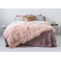 Best Genuine Tibetan Sheepskin Throw For Queen Size Bed, Soft Sheepskin Fur Blanket  wholesale