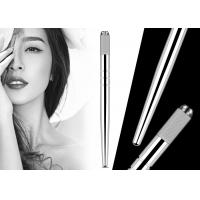China 3D Embroidery Heavy Silver Manual Tattoo Pen Eyebrow Hairstroke Microblading Pen on sale