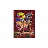Best 0.6mm PET + 157g Paper 3D Lenticular Printing Service Of Dinosaure Images wholesale