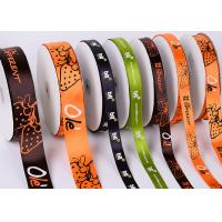 Best White Custom Printed Ribbon Eco Friendly Soft Thin Attractive Look Polyester wholesale