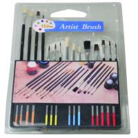 Best Slim Long Handled Paint Brushes , Personalised Paint Brush Set T With Plastic Palette wholesale