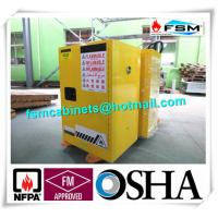 Best Yellow Fireproof Flammable Safety Cabinets 12 Gal / 45L With Adjustable Leveling Feet wholesale