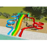Best Commercial Water Park Design Slides , Spiral FRP Water Play Design wholesale