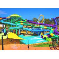 Best Attractive Spiral Open Tube Water Park Water Slide 1m Diameter 3 Guests Per Time wholesale