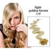"""Best 32"""" Custom Human Hair Wigs ,  Golden U - Tip 100% Remy Real Pre Bonded Hair Extension wholesale"""