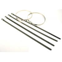 Best High tensile strength outdoor long  #304 Stainless steel cable tie for cables, poles wholesale