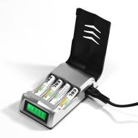 Best LCD Rapid 4 Slot Smart Rechargeable Battery Charger for AA AAA NiMH NiCD Battery wholesale
