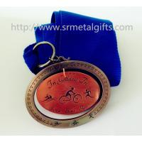 Best Antique bronze swimming medals with lace ribbon, 3D antique bronze swimming metal medals, wholesale