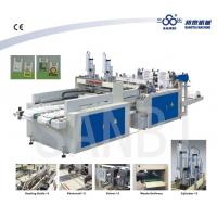 Best Two Lines Heat Sealing Heat Cutting T-Shirt Bag Making Machine With Punching wholesale