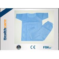 Buy cheap Eco Friendly Disposable Scrub Suits Surgical Hospital Gowns With CE Certificate from wholesalers
