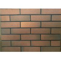 Best Colord Clay Exterior Faux Brick , Thin Veneer Brick For House Wall wholesale