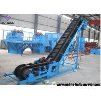 Best Flat Inclined Rubber Mobile Conveyor Belt System With Grain Coal Hopper wholesale