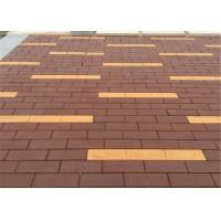 Best Non - Radioactive Clay Paving Brick Easy to Maintain Red / Brown Brick Pavers 2.9 - 3.2% wholesale