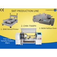 Best 3040 Stencil Printer + 4 Heads 60 Feeders Pick and place Machine + T960W Reflow Oven , SMT Batch wholesale