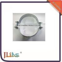 Quality Round Galvanized Pipe Clamps PVC Down Pipe Clamps With Riveted Fixed Nut wholesale