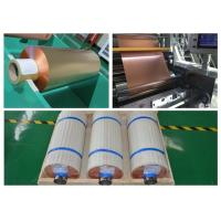 Best 99.95% Purity Soft Copper Foil Roll / Strip Double Sided Light SGS Approval wholesale