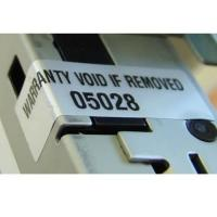 China Custom High Tack Water Based Silver VOID Label sticker On Rolls on sale
