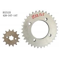 Best Honda BIZ125 Motorcycle Sprocket Chain 428-34T-14T Anti Abrasion Long Lifespan wholesale