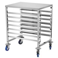Best 6 Shelf Baking Tray Trolley For Rotary Oven Pastry Stainless Steel Tray Rack wholesale