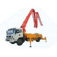 Best  DFAC King Run 35m Concrete Boom Pump Truck , Truck Mounted Concrete Mixer wholesale