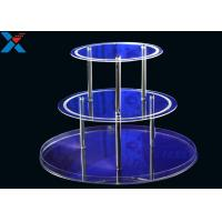 Best Round 3 Layers Acrylic Display Stands For Wedding Environmental And Recyclable wholesale