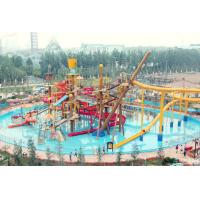 Best Aqua Park Equipment Big Interactive Fiberglass Water Play House With Water Slide For Adult wholesale
