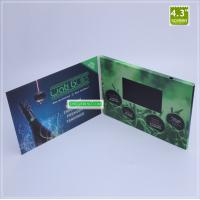 China Manufactore price 4.3 inch LCD Brochure Card Video Brochure video greeting card on sale