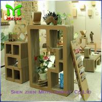 Best Cartoon Corrugated Cardboard Bookcase Furniture For Display Small Toys And Books wholesale