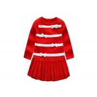 Best Long Winter Baby Girl Sweater Dress , Toddler Red Sweater O Neck Collar wholesale