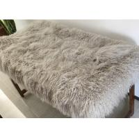 Best Real Mongolian Tibetan Lamb Fur New Mongolian Fur fabric for throw pillow wholesale