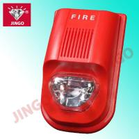 China Addressable fire alarm systems DC24V 2 wire strobe horn,flash light with sounder on sale