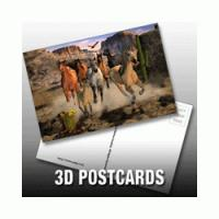 China PLASTICLENTICULAR custom 3d printed business photography cards PP PET lenticular postcards on sale