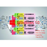 China 64bit / 32bit OS 100% Authentic Windows 10 Pro OEM Serial Sticker Online Activate on sale