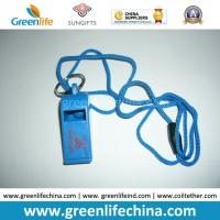 Best Plastic Custom Logo Printing on Whistle Top Party Whistle with Cord Cheap Promotional Gift wholesale
