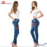 Best Elegant Ladies Jeans Pant Full Length Stretchable Jeans For Ladies wholesale