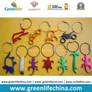 Best Hot Selling Metal Bottle Openers w/Stainless Steel Loop Key Chain Holders wholesale