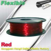 Best TPU Flexible 3d Printing Filament 1.75 / 3.0 mm  Red and Transparent wholesale