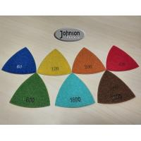 Best Green Triangle Corner Diamond Floor Polishing Pads , Electroplated Metal Bond Pads wholesale
