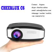 CHEERLUX C6 mini projector HD Native 800*480 1200 lumens led lcd best for home theater