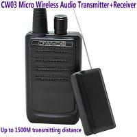 Best CW03 Micro Wireless Audio Transmitter+Receiver Listening Bug 500M Remote Sound Monitor wholesale